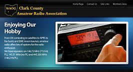 Clark County Amateur Radio Association's websiet by Web-Rx Consulting
